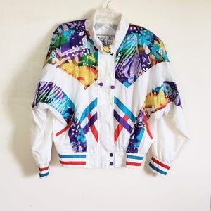 Vintage 80s East West Track Suit Women's Lg 2Pc